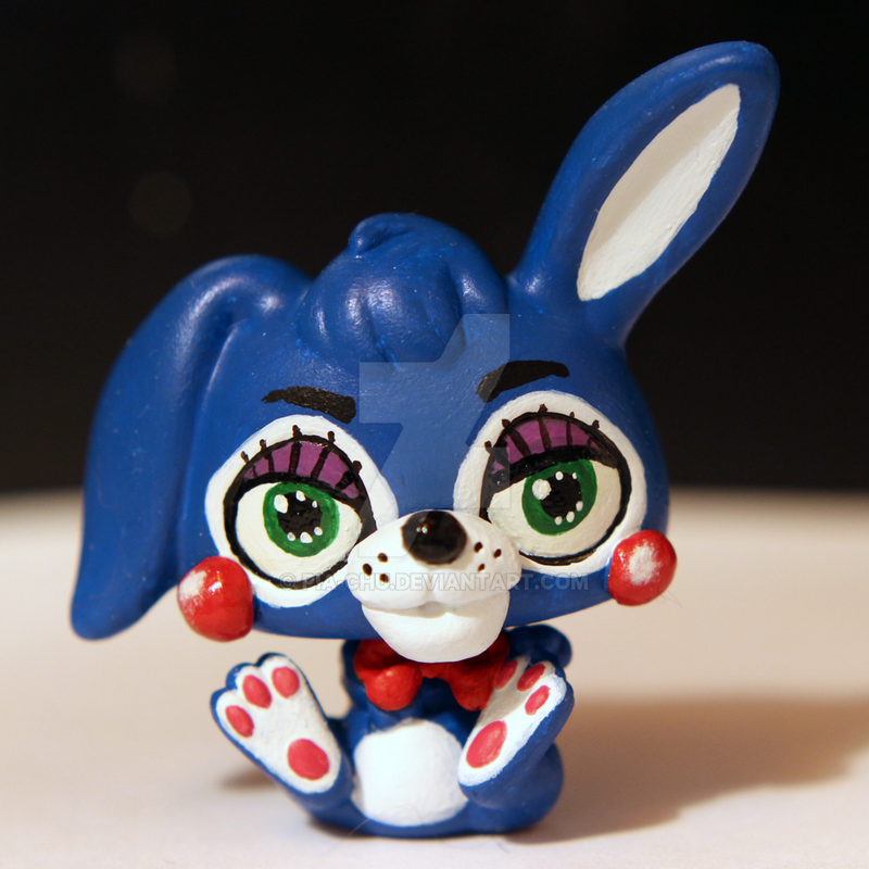 Toy bonnie from fnaf2 inspired lps custom by pia chu on deviantart