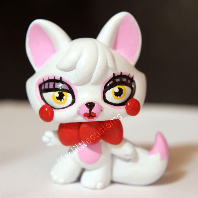 Toy foxy mangle from fnaf2 inspired lps custom by pia chu on