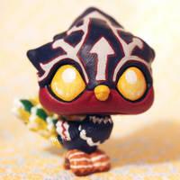 Helmaroc King from Zelda (baby version) LPS custom