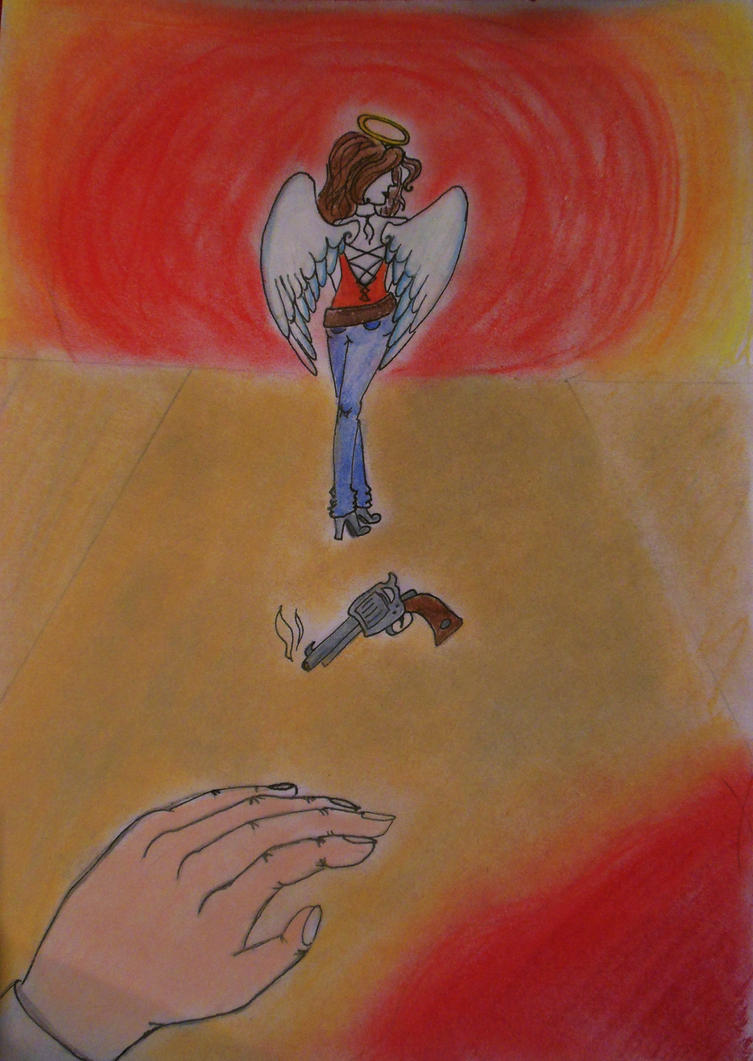 Angel in blue jeans by calicocat123