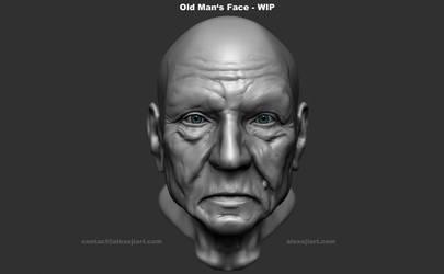 Old Man's Face by Alexeji