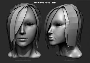 Woman's Face by Alexeji