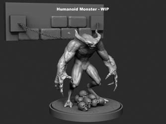Humanoid Monster - WIP by Alexeji