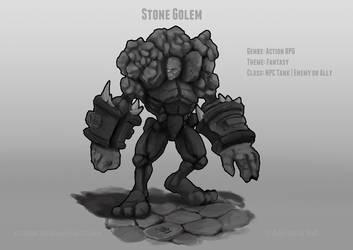 Stone Golem Concept by Alexeji