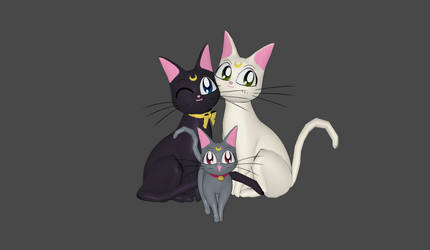 Luna, Artemis and Diana Manga mesh mod by Lopieloo