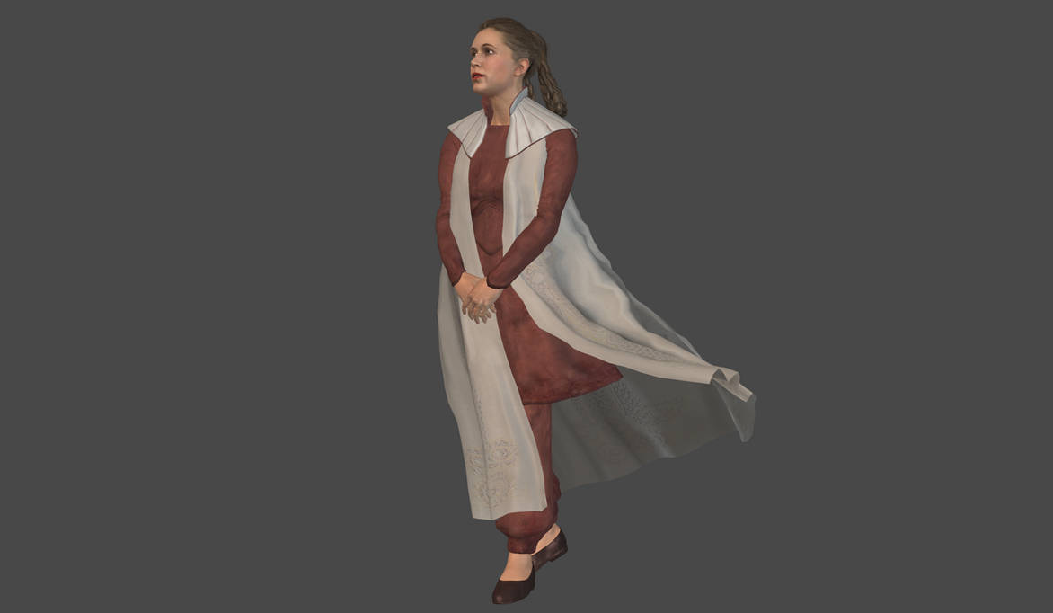 Leia Bespin mesh mod by Lopieloo