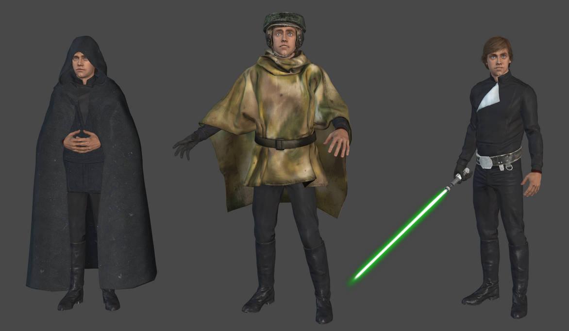 Luke Skywalker Endor mesh mod by Lopieloo