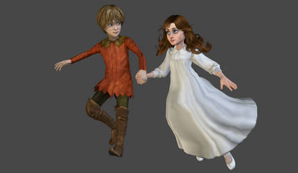 Peter Pan and Wendy mesh mods by Lopieloo