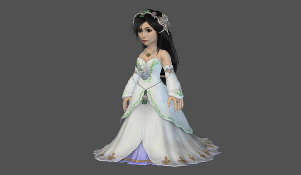 Garnet princess dress high poly mesh mod