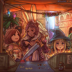 FF12 - Ashe, Fran, and Panelo by DiceSMS