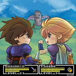 Final Fantasy Mystic Quest - Phoebe + Benjamin by Dice9633