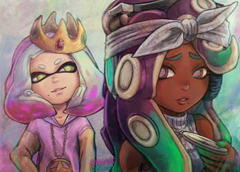 Splatoon 2 - Pearl + Marina/ Biggie+Tupac Tribute by Dice9633