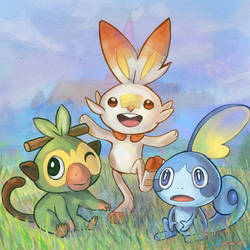 105 - Sword and Shield Starters by Dice9633