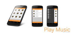 Google Play Music App Mockup