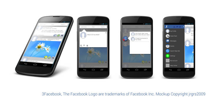 Facebook Android Mockup