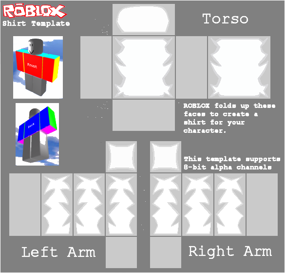 Roblox Shadded Shirt Template by kill299 on DeviantArt