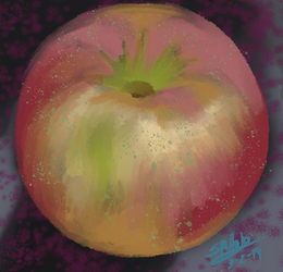 Holm Apple Painting by equigoyle
