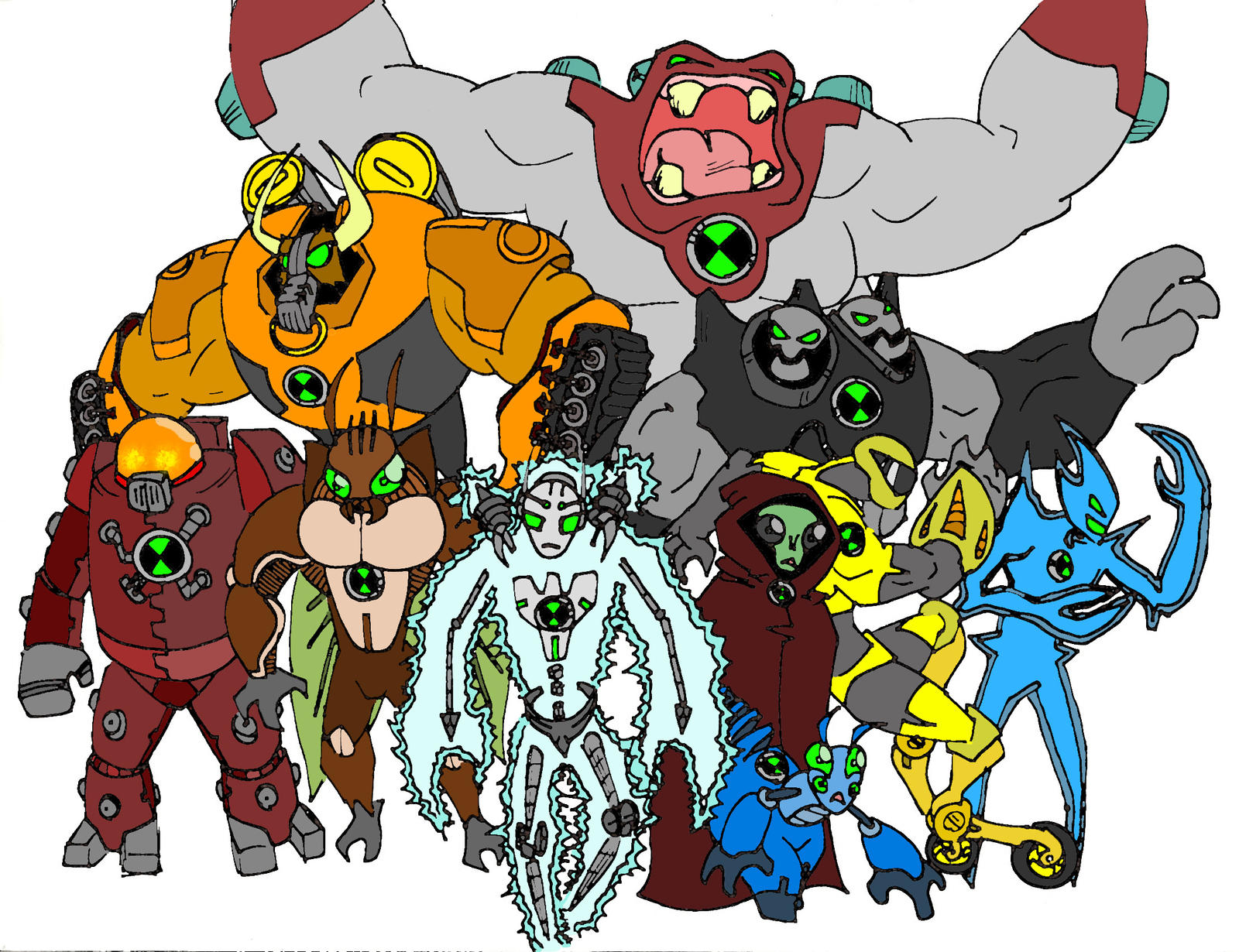Ben 10 fan aliens favourites by deviantartistmax on deviantart brendanbass 9 2 another set of ben 10 aliens by bigafroman voltagebd Image collections