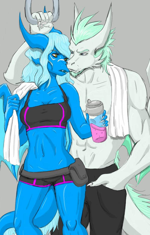 Post Workout by BlizzardLynn