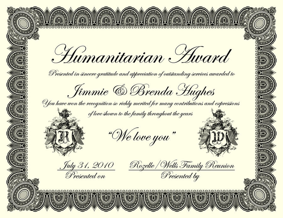 Family reunion certificate by artistport on deviantart for Free printable family reunion certificates