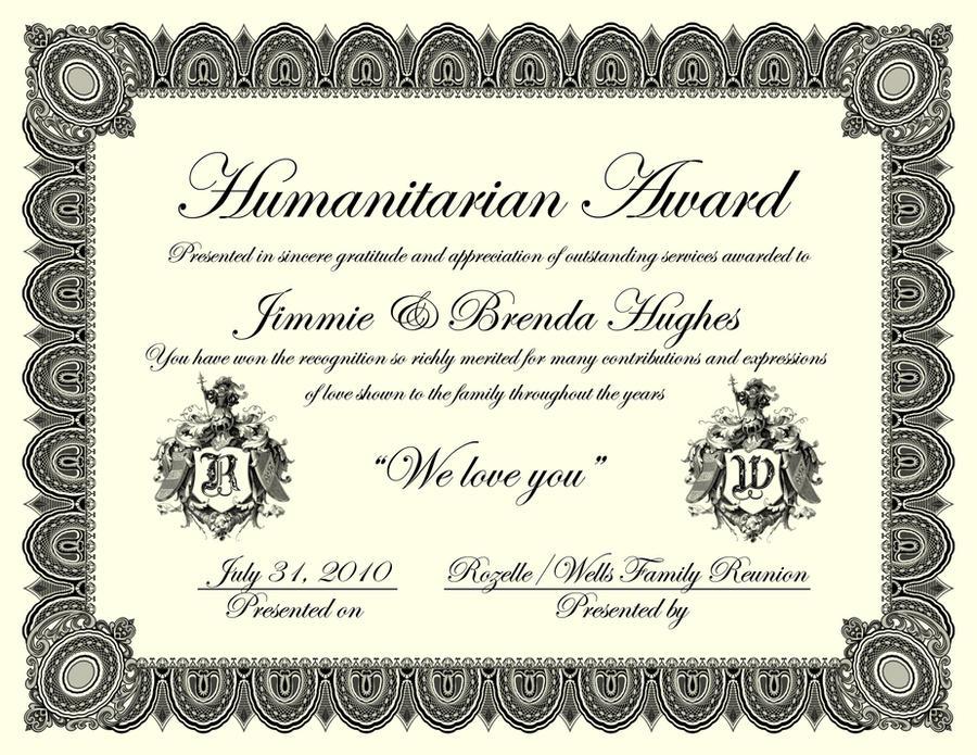 Family Reunion Certificate By Artistport