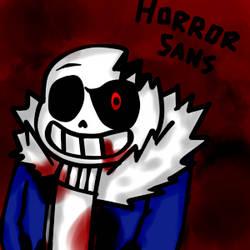 Horror Sans by LaTigreLaTigresa12