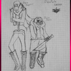 Dere Papyrus and Dere Sans-DereTale AU