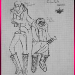 Dere Papyrus and Dere Sans-DereTale AU by LaTigreLaTigresa12