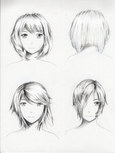 Female hairstyle practice 1