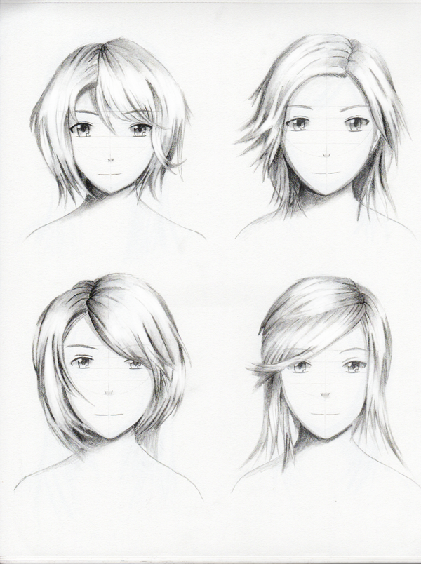 Female hairstyle practice 2