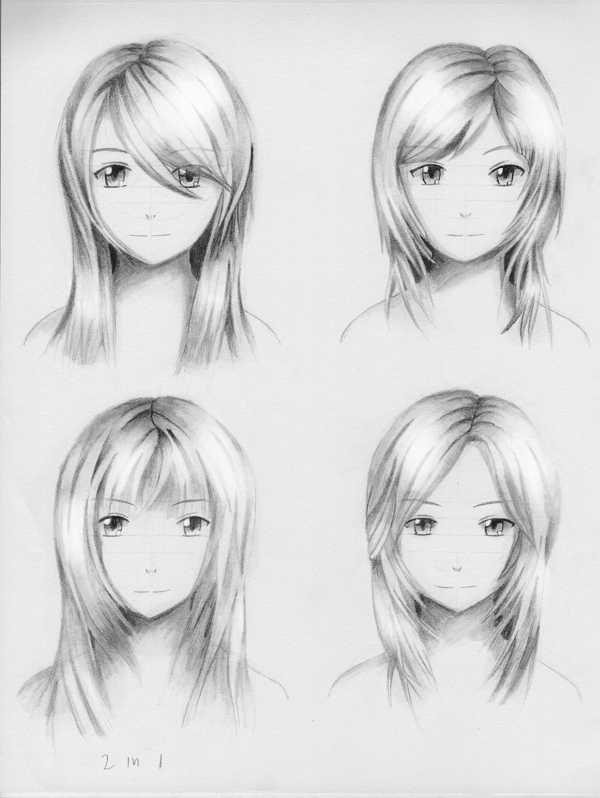 Female hairstyle practice 3