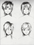 Male Hairstyles practice 1