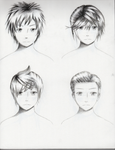 Male Hairstyles practice 2