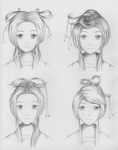 Chinese Traditional Hairstyles For Female 2 By ShenGoDo