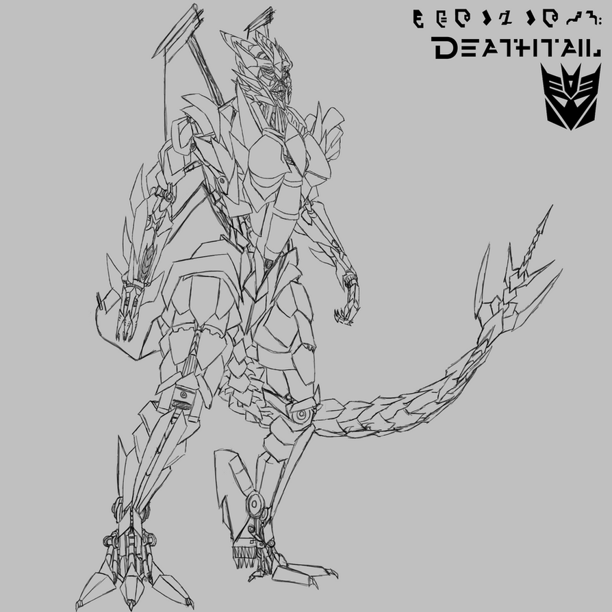 //DEATHTAIL UNCOLOURED\\ by Blaze-Flamewing