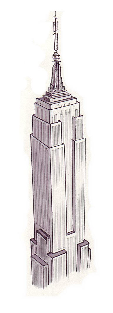 Empire State Building Perspective Drawing