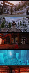 Snow Dragon Temple of Skyrim by charming-mushroom