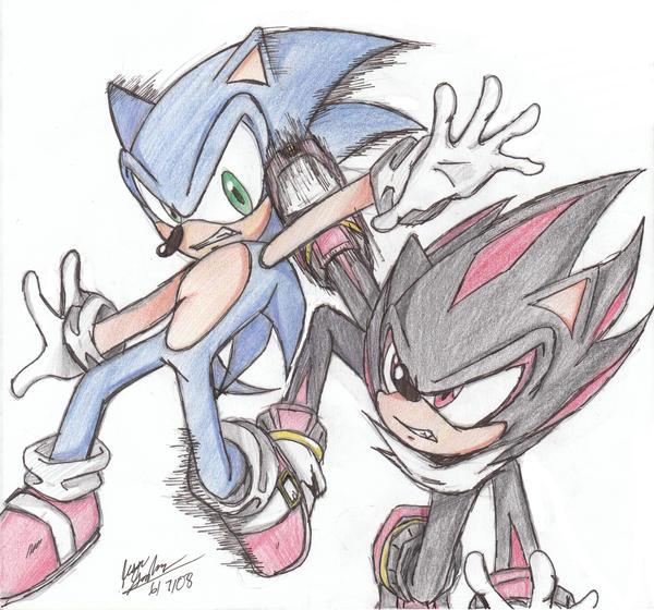 Sonic vs Shadow by animeruler100 on DeviantArt