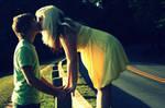 Erin and Nic - kissing shot 1