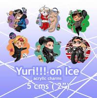 Yuri on Ice Charms