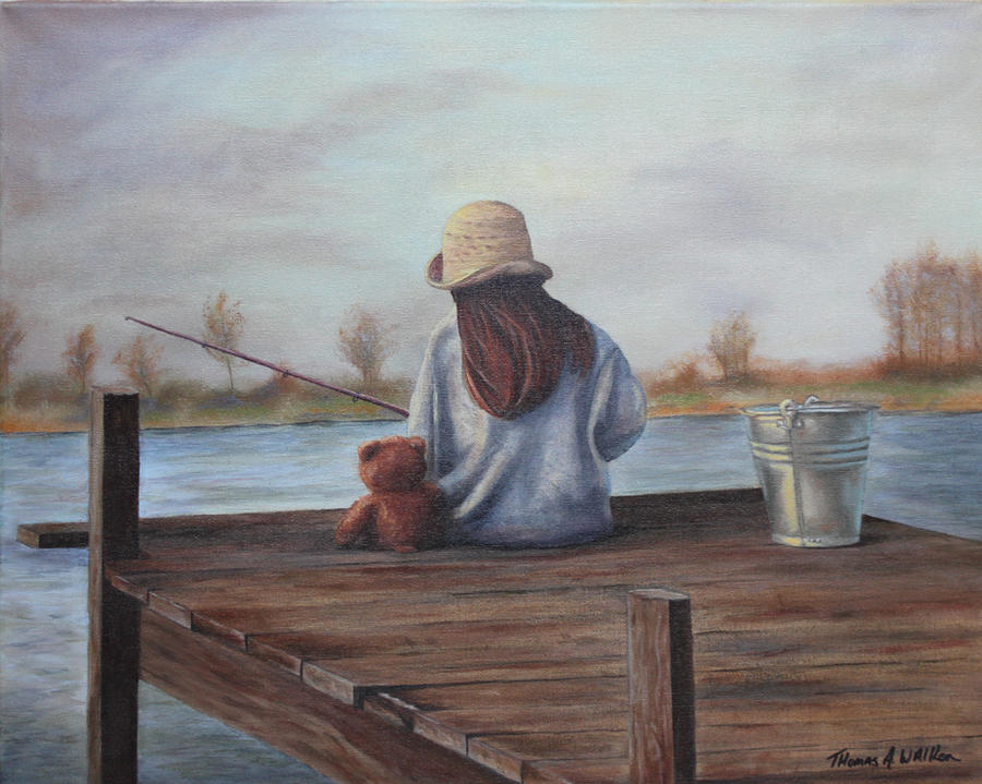 Girl Fishing high res by ArT-Walker