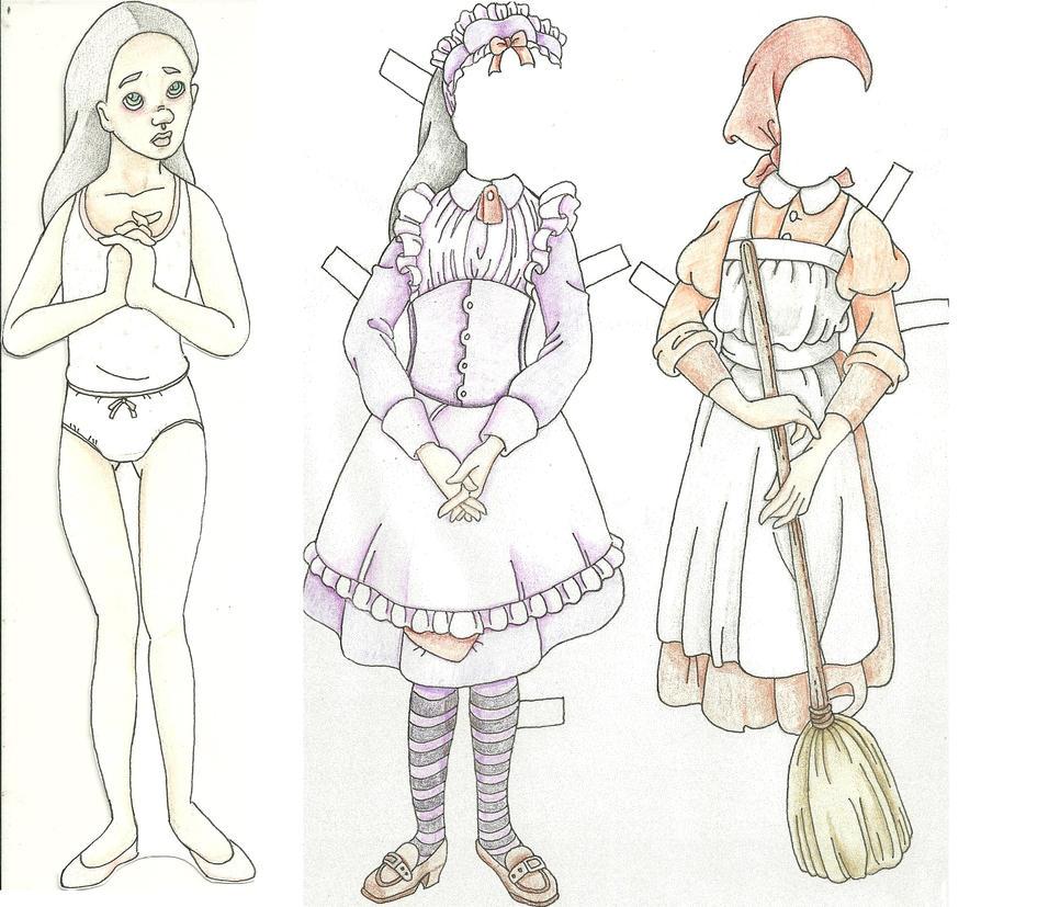 Lillian paper doll by Persphonefallen