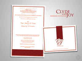 CandJ Wedding Invitation by shoden23