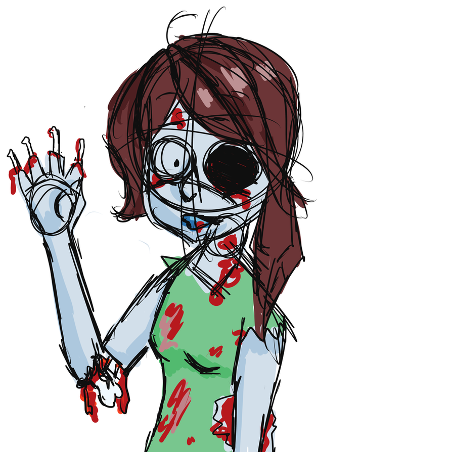 Female Zombie Drawings