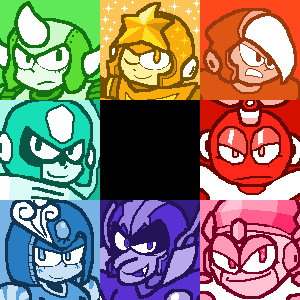 Some Robot Masters by kirbymariomega