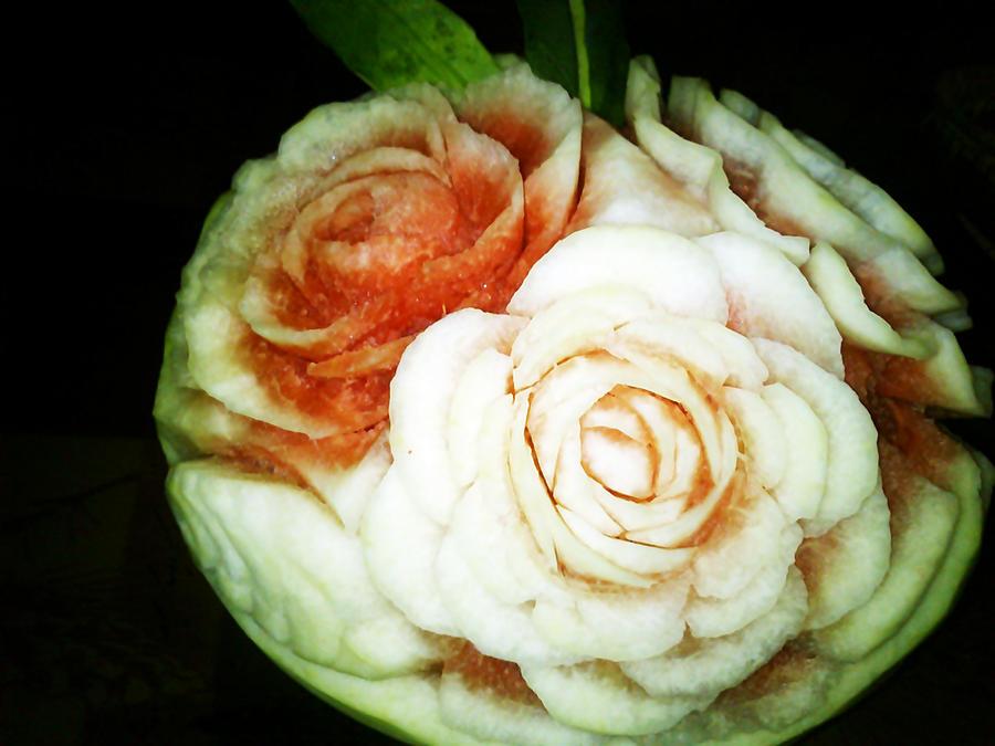Watermelon White Rose by AmaranthLevana