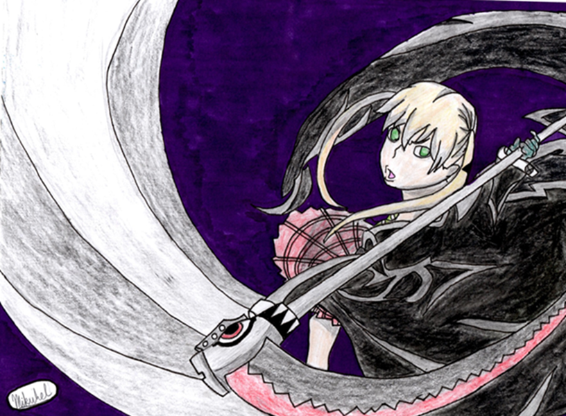 Soul Eater- Maka and Soul (Weapon Form) by Domo8U2 on DeviantArt