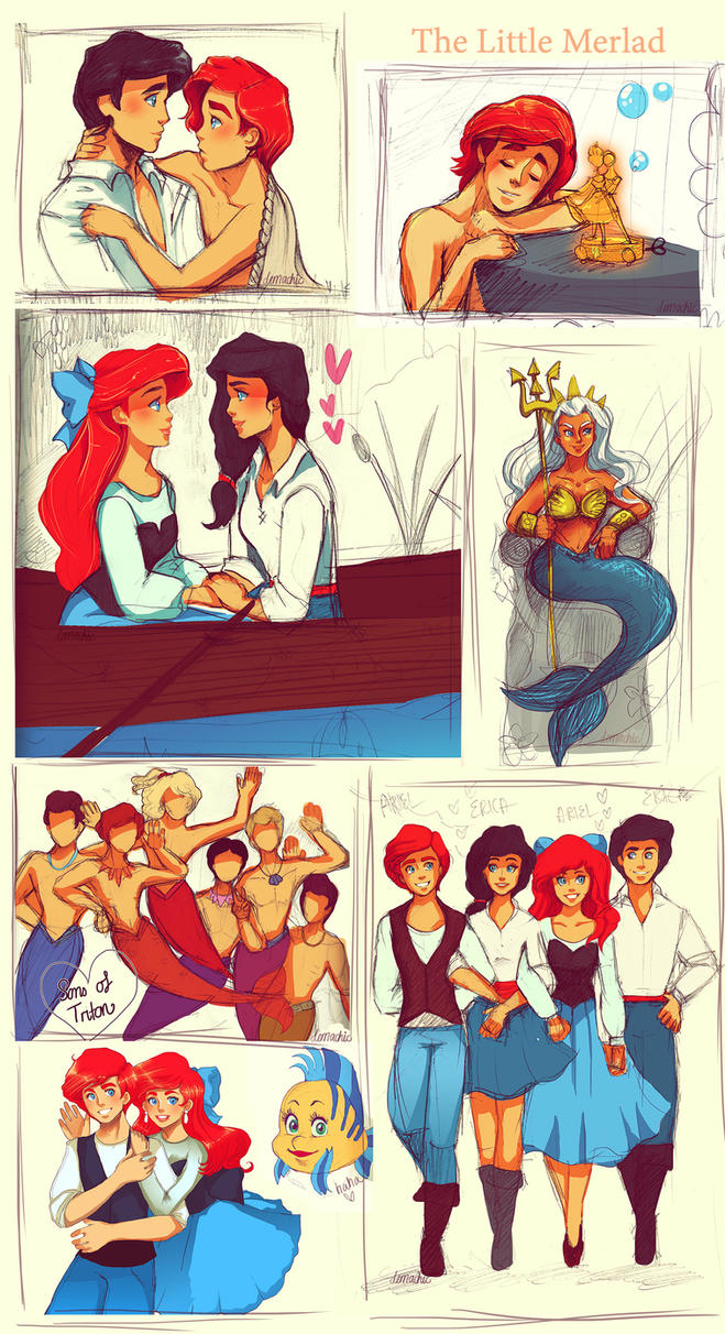 Genderbent - The Little Mermaid :D by Demachic