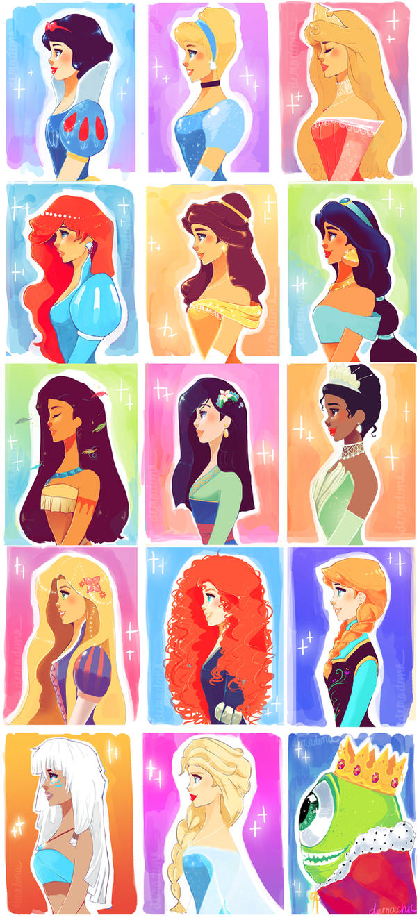 Disney Princesses.. by Demachic