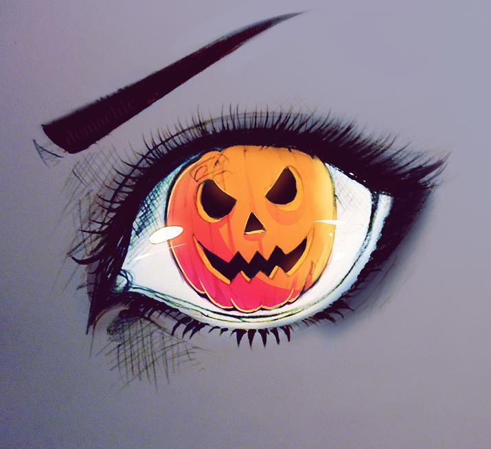 Seeing Orange! Happy Halloween by Demachic